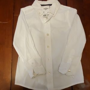 Osh kosh white button up shirt NWT